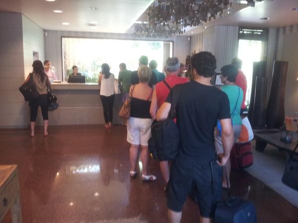 Cola en los hoteles espanoles